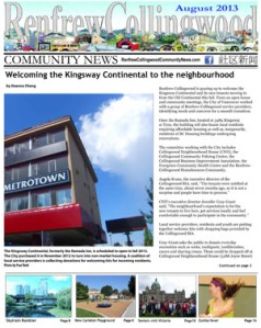 RCC News August 2013 - News stories from Renfrew-Collingwood