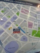 Stadium-Chinatown Skytrain station map