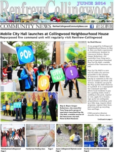 Read the Renfrew-Collingwood Community News, June 2014