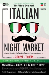 Italian Night Market at Il Centro Italian Cultural Centre