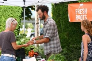 Get your fresh veggies for dinner at the Italian Night Market