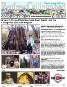February 2015 Renfrew-Collingwood Community News