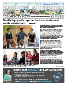 August 2015 issue of RCC News