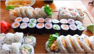 Sushi Miga's Party Tray A (a mere $22)