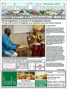 Renfrew-Collingwood Community News October 2015