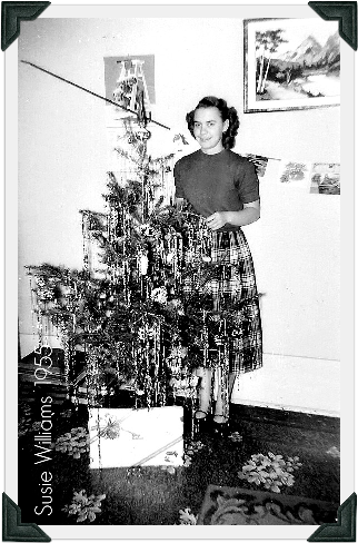 Susan Williams Christmas 1955