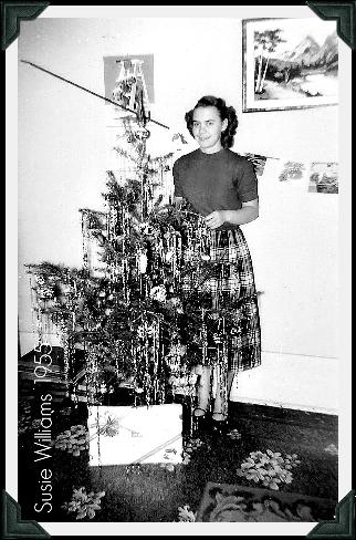 Susan Williams Christmas 1955