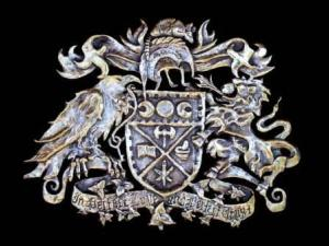 Shelley Stefan's bronze family crest. Photos courtesy of Il Museo