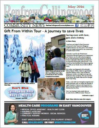 Renfrew-Collingwood Community News May 2016