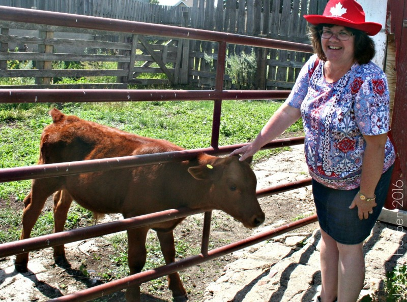 Loretta Houben at the Alberta ranch.