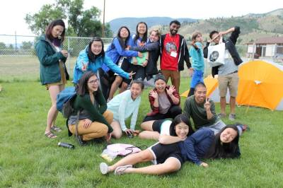 Youth take a break at the campsite. Photo by Kaitlyn Fung