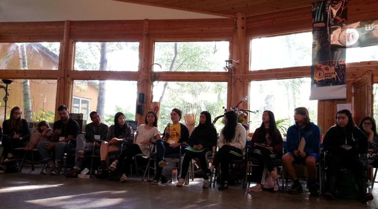 Youth share their stories at the 2016 BC Food Systems Network Gathering. Photo by Stephanie Lim