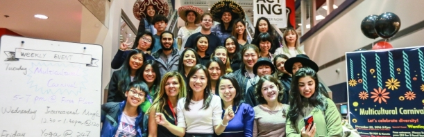 Art Institute of Vancouver staff and the Student Association get ready for the Multicultural Carnival.