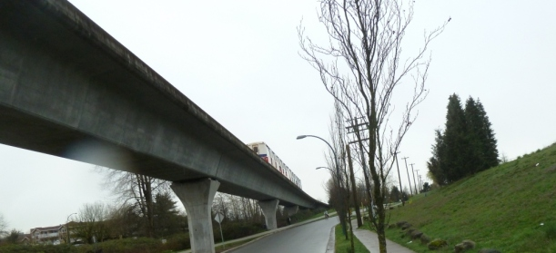 Residents travel by Skytrain and cycle paths alike in Renfrew-Collingwood.