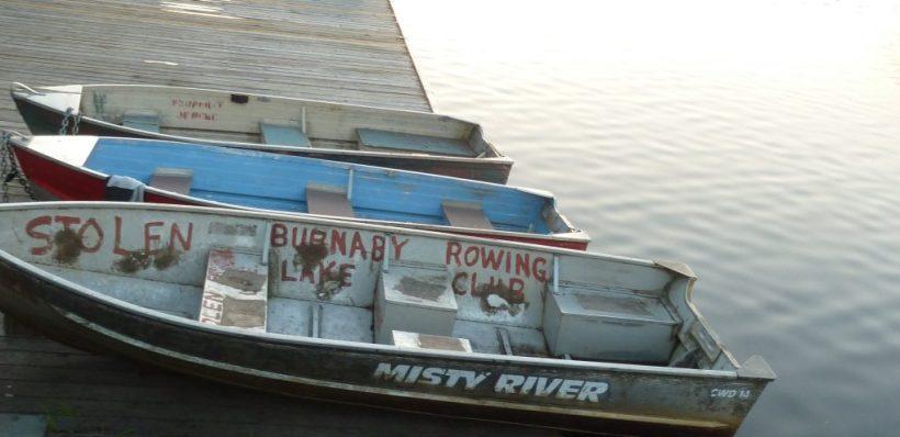 Boats at Burnaby Lake boat house