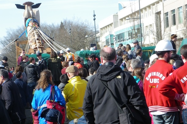 Reconciliation pole raising at UBC
