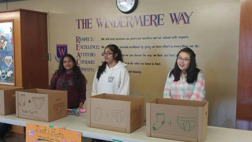 Windermere Girls Group Homeless Program Donations