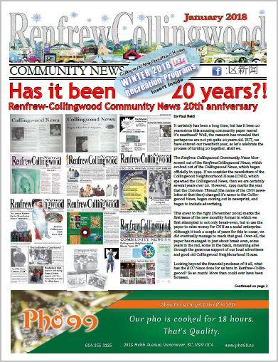 Renfrew-Collingwood Community News January 2018