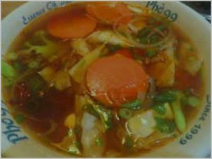 Seafood Noodle in Hot and Sour Soup