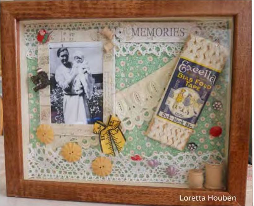 Loretta Houben created this memory box as a tribute to her grandma Helen.
