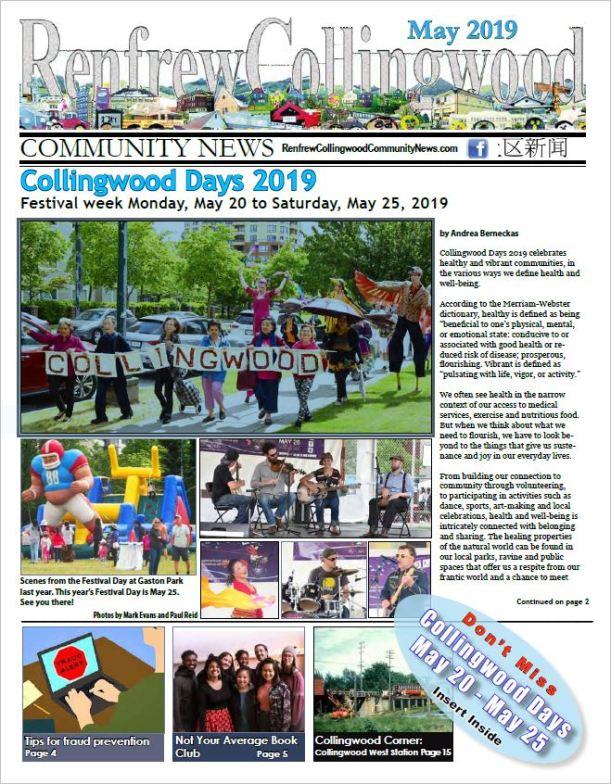 Renfrew-Collingwood Community News May 2019