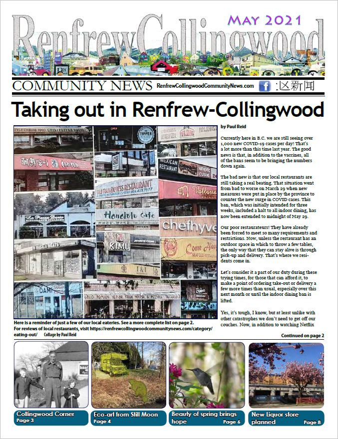 May 2021 Renfrew-Collingwood Community News