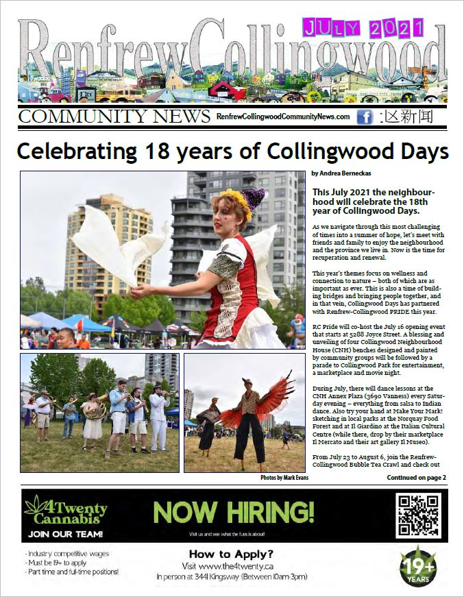 Renfrew-Collingwood Community News July 2021