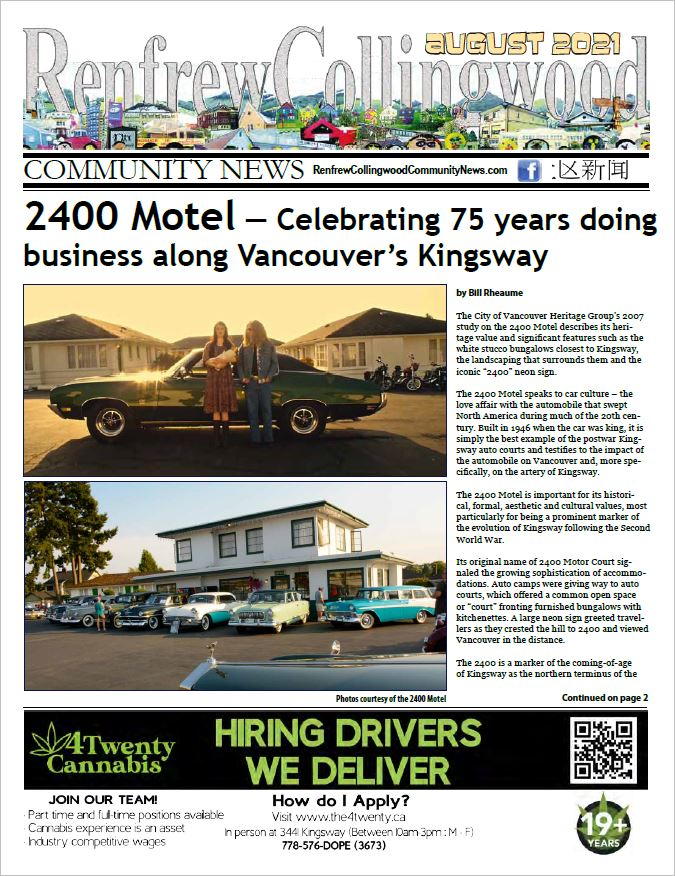 August 2021 Renfrew-Collingwood Community News