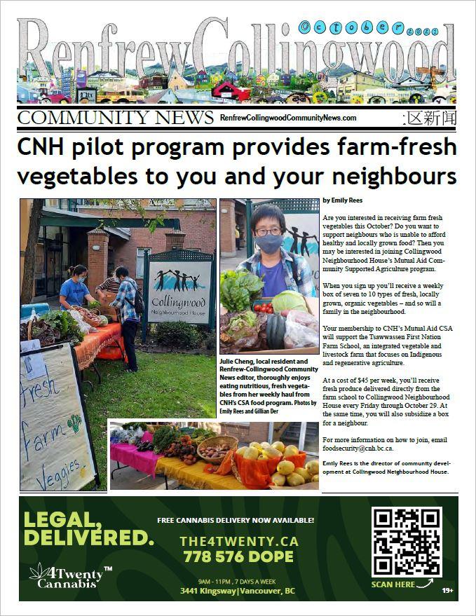 Renfrew-Collingwood Community News October 2021